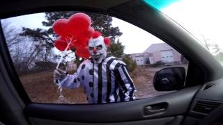 SCARY KILLER CLOWN ATTACKS KIDS IN CAR - (Scary Clown Attack) MUST WATCH!