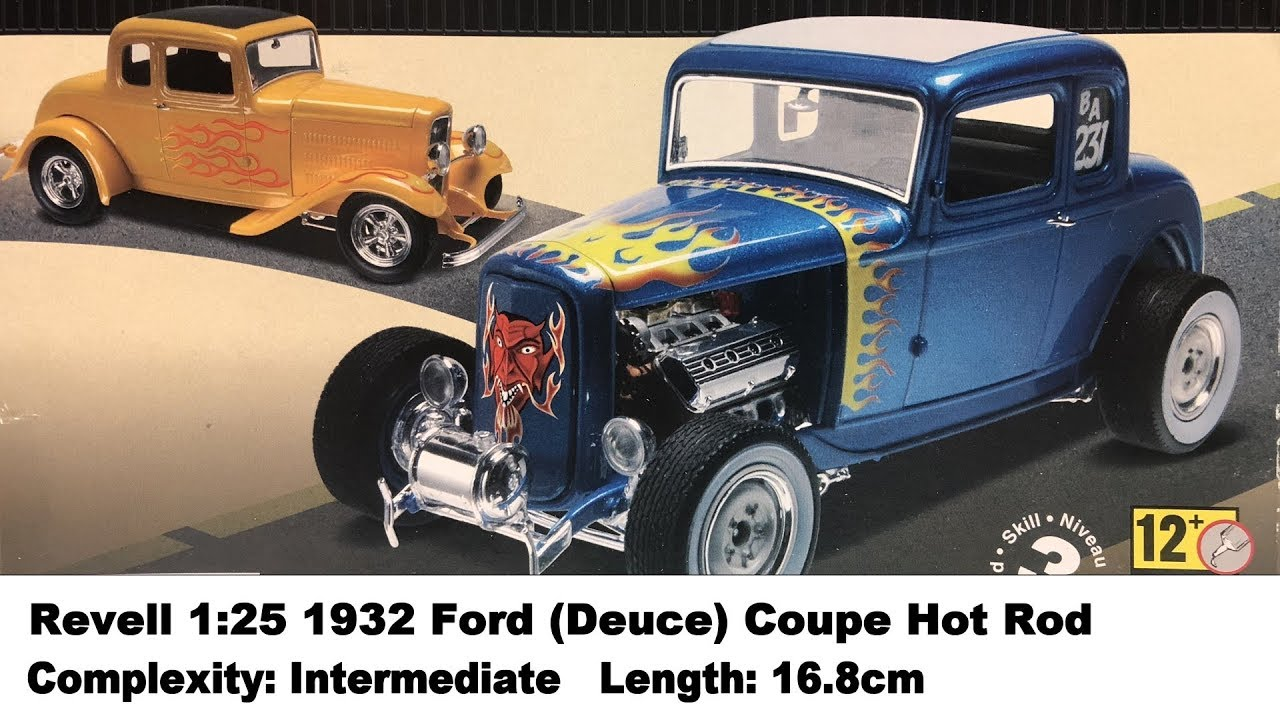 Revell 1 25 1932 Ford Deuce Coupe Hot Rod Kit Review Youtube