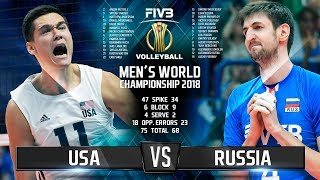 USA vs. Russia | Highlights | Final 6 Mens World Championship 2018