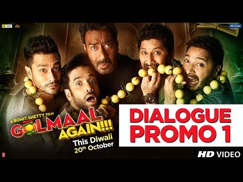 Golmaal Again Dialogue Promo 1 | Rohit Shetty | Ajay Devgn | Parineeti Chopra | 20th Oct 2017