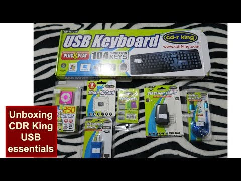 Unboxing CDR King USB Keyboard, MP3 Player, Micro SD Card, Charger Adapter, USB Cable Review