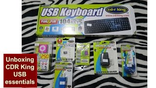 unboxing cdr king usb keyboard mp3 player micro sd card charger adapter usb cable review