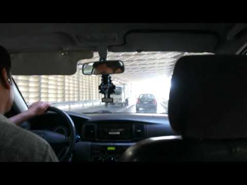 Drive through Tunnel Under Suez Canal in Egypt HD  قناة السويس 埃及