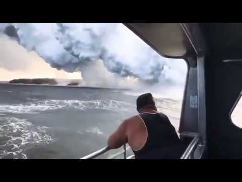 BREAKING NEWS LAVA and WATER meets and...