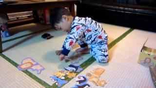 2歳でパズル puzzle at 2 years old