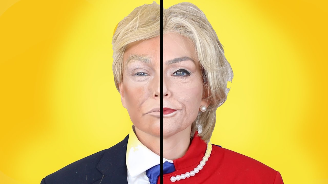 Hillary clinton donald trump makeup transformation kandee hillary clinton donald trump makeup transformation kandee johnson youtube baditri Gallery