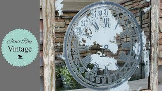 How To Age a Mirror with Muriatic Acid | IOD Transfer Clock