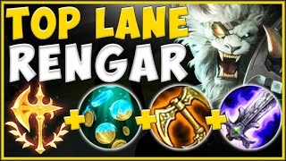 THERE'S NO DODGING THIS CAT! FULL AD RENGAR TOP 100% BURSTS FOR TOO MUCH DMG! - League of Legends