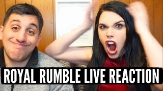 WWE ROYAL RUMBLE 2017 LIVE REACTION! ANGRY GIRL FREAKS OUT