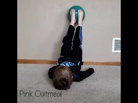 Pediatric Physical Therapy Core Strengthening -Feet Rolls