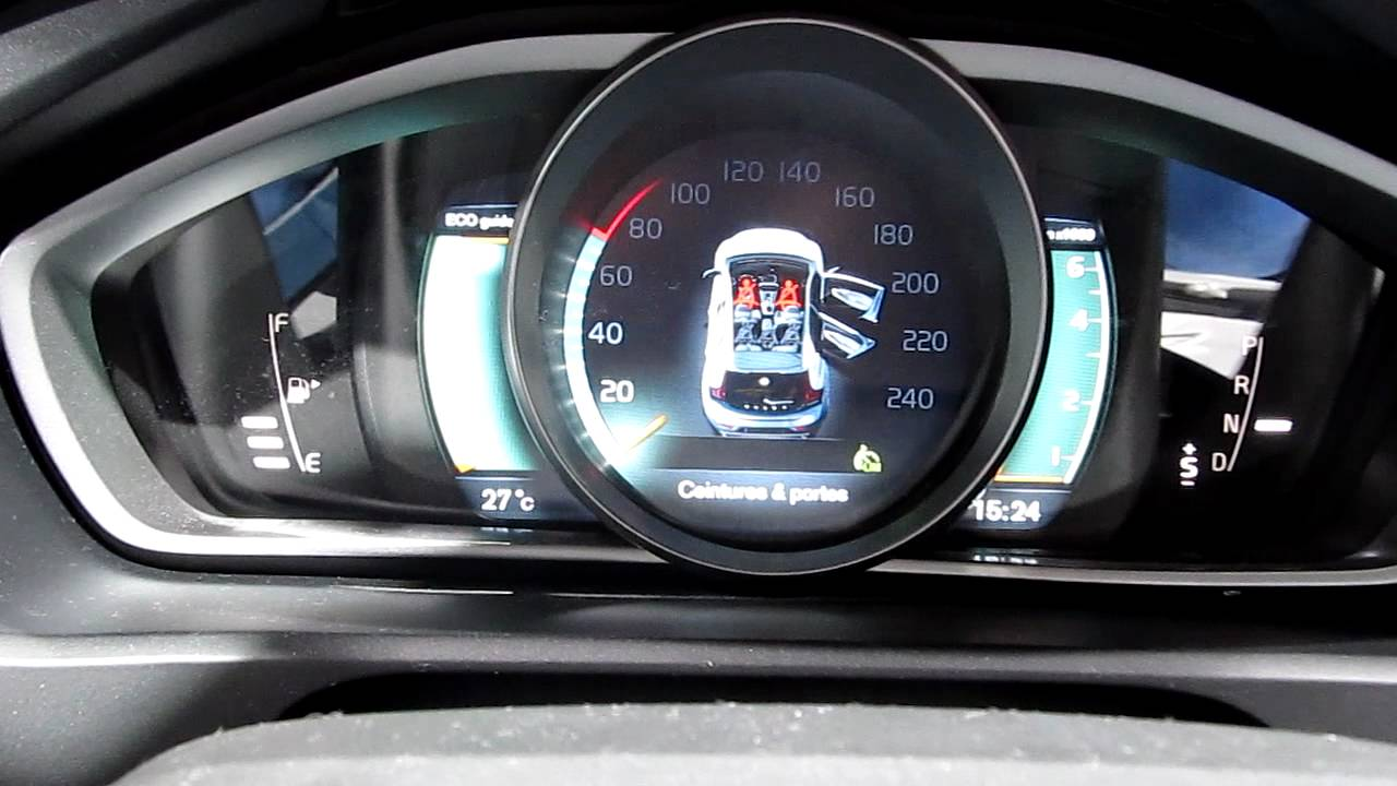 Volvo V40 R design interior @ Mondial de l'Automobile Paris 2012 - YouTube