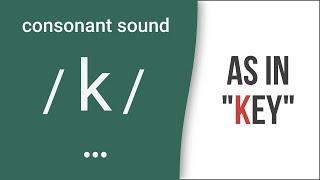 Consonant Sound /k/ as in