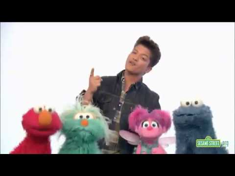 Bruno Mars on Sesame Street - Don't Give Up