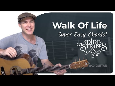 Walk Of Life - Dire Straits - Very Easy Beginner Song Guitar Lesson (BS-104)