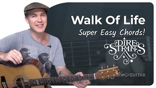 Walk Of Life Dire Straits Very Easy Beginner Song Guitar Lesson Bs-104