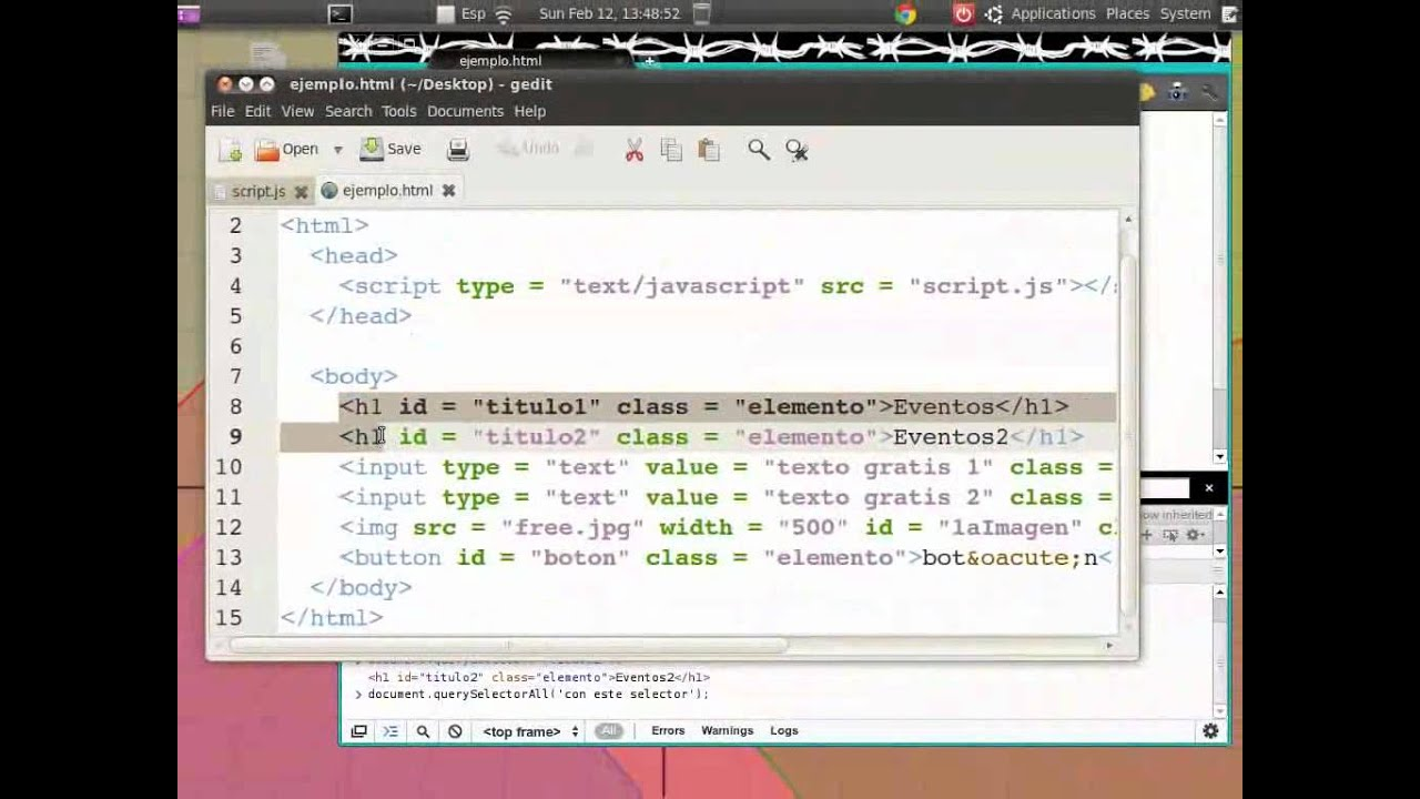 Seleccionar elementos de HTML (select HTML elements) - YouTube