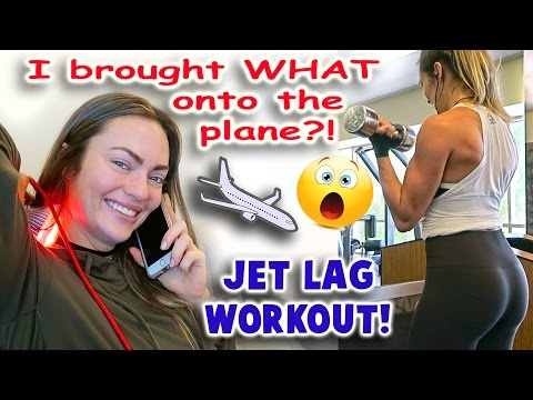 I brought WHAT on the plane! / Jet lag gym workout