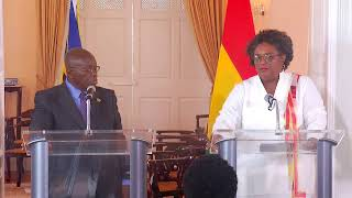 Joint Press Conference: Prime Minister of Barbados and President of Ghana at Ilaro Court, Barbados