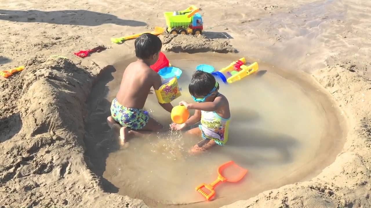 Sand pool made for my Kids at the beach
