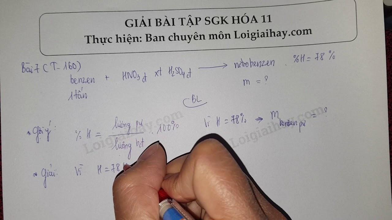 Giải bài 7 trang 160 SGK Hóa học 11