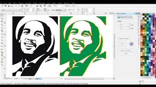 [Bob Marley] | Vector LineArt dengan CorelDRAW X4 | Belajar CorelDRAW