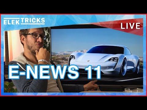 E-News #11 Porsche Mission E Fotos, Tesla Model 3 & Truck, E-Flugzeug, Toshiba Turbo Akku, E-Roller