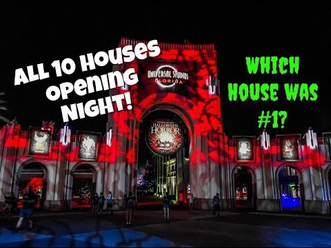 First Night of HHN - All Houses Reviewed   Halloween Horror Nights 2018