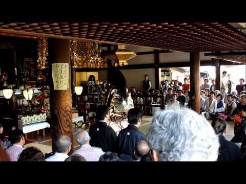 Japanese No Theatre during the chrysanthemum festival at temple Hôrinji, Arashiyama