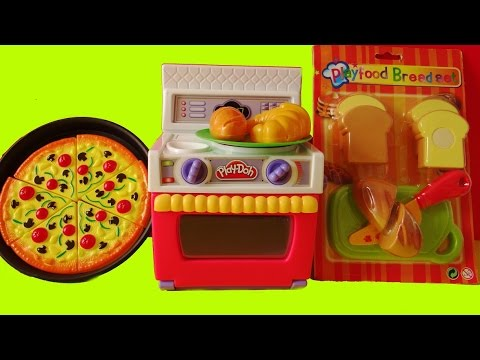 Toy Velcro Cutting Food Playdoh Oven Cooking Baking Pizza
