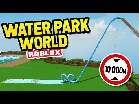 The HIGHEST Slide EVER In Water Park World