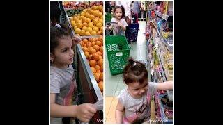 طفلة تتسوق في السوبرماركت ! 🤣😋Shopping from the supermarket