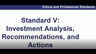 CFA EXAM| Topic Review 2, Part 3 Guidance for Standards I VII