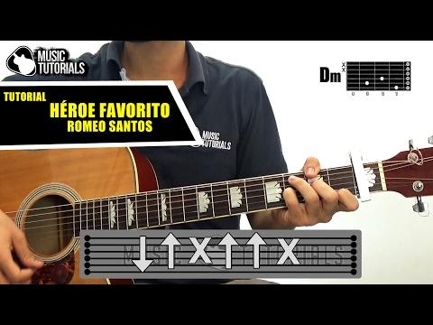 Cómo tocar Héroe Favorito de Romeo Santos en Guitarra | Tutorial COMPLETO + PDF GRATIS