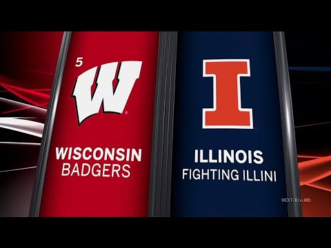 Wisconsin at Illinois - Football Highlights