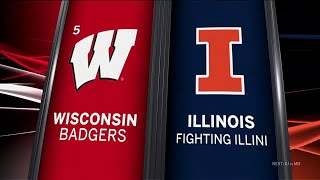 Wisconsin at Illinois - Football Highlights