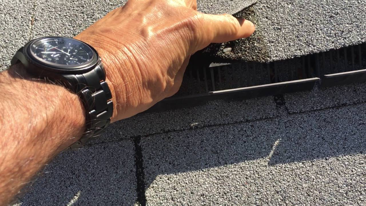 Ridge Vent Leak Repair Springfield Va Roofer911 Youtube