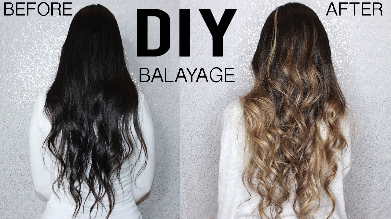 HOW TO DIY BALAYAGE+OMBRE HAIR TUTORIAL AT HOME , FROM DARK TO BLONDE