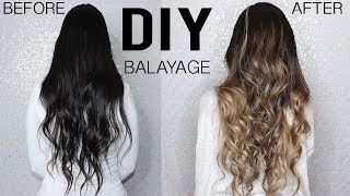HOW TO: DIY BALAYAGE+OMBRE HAIR TUTORIAL AT HOME - FROM DARK TO BLONDE