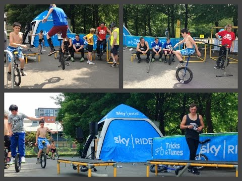 Bolton Sky Ride Event on a Unicycle, 2014