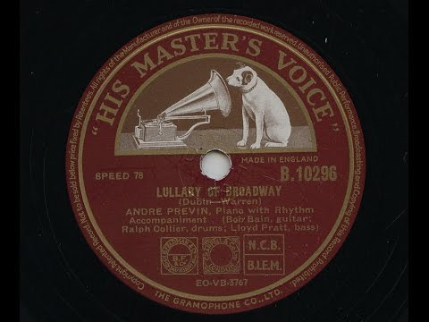 Andre Previn 'Lullaby Of Broadway' 1952 78 rpm