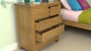 Rivermead Solid Oak 5 Drawer Chest From Oak Furniture Land
