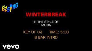 MUNA - Winterbreak (Karaoke)