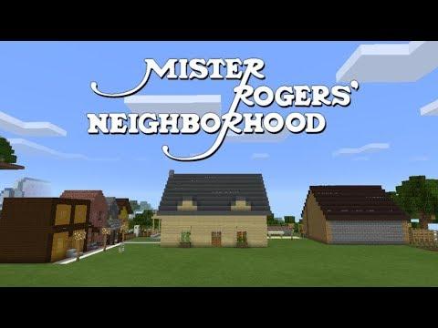 Mister Rogers Neighborhood In Minecraft Youtube