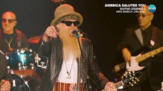 """ZZ Top's Billy Gibbons Performs """"Sharp Dressed Man"""" at America Salutes You: Guitar Legends 2"""