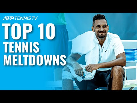 Top 10 ATP Tennis Meltdowns & Angry Moments!