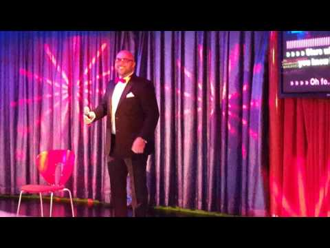 James singing on the Karaoke - Independence of the seas May 2016
