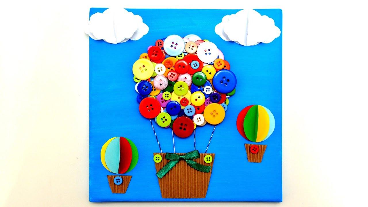 Air balloon 3d canvas art craft diy handmade wall room decor air balloon 3d canvas art craft diy handmade wall room decor gifts ideas tutorial maker life hacks baditri Image collections