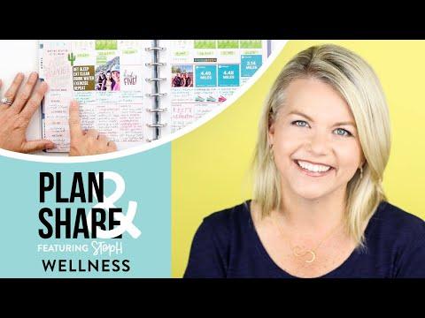 PLAN & SHARE! // Stephanie's 'WELLNESS' Happy Planner®!