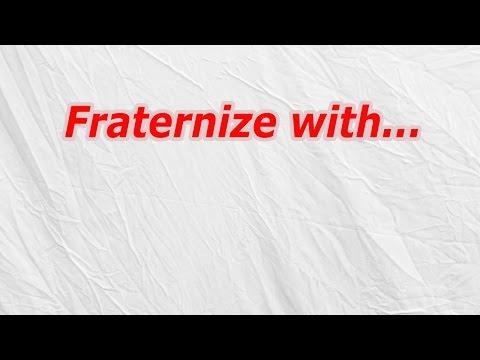Fraternize with (CodyCross Crossword Answer)