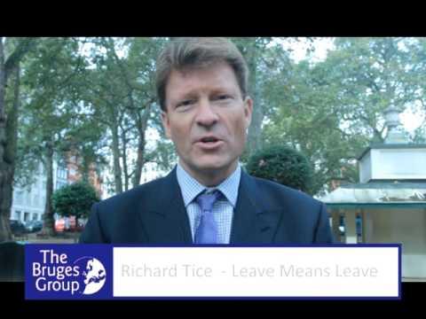 Bruges Group trailer - Richard Tice